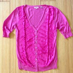 Ted Baker Hot Pink Ribbon Detail Cardigan
